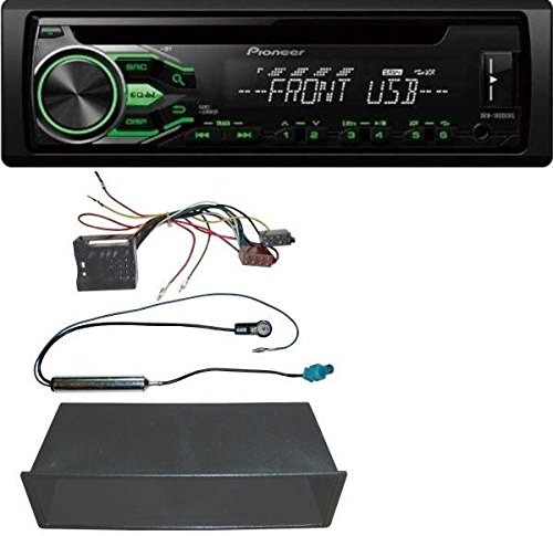 Pioneer DEH-1800UBG CD MP3 USB AUX Autoradio für VW Polo, Lupo, Fox, Passat, T5
