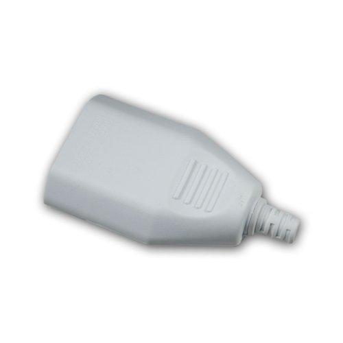 Europa-Kupplung Kunststoff weiß, max. 250V/2,5A