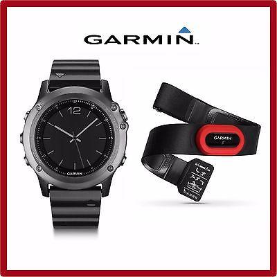 -NEU- Garmin fenix 3 Saphir GPS-Multisport Smartwatch + Brustgurt + 2. Armband