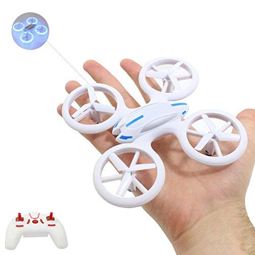 Smart-Planet® hochwertige kleine mini Drohne / Drone mit auffälliger LED Beleuchtung (17,6 cm) / Quadrocopter sehr stabiler Flug ---