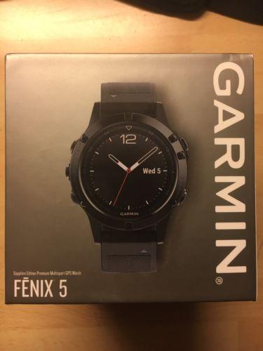 GARMIN FENIX 5 Sapphire Edition Black Schwarz GPS Uhr NEU OVP