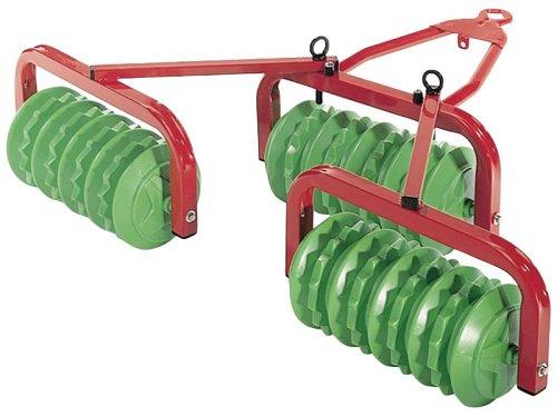 Rolly Toys 123841 Walze Cambridge, mit 3 großen Walzen, Metall- Kunststoffkombination (geeignet für Kinder ab 3 Jahren, Farbe Grün/Rot)