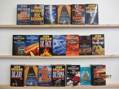John Grisham 20 Bücher Romane Krimi Thriller Politthriller Kriminalromane