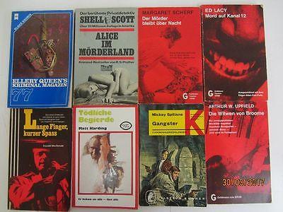 106 Bücher Taschenbücher alte Krimi Kriminalromane Detektivromane Spionageromane