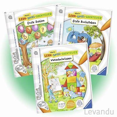 RAVENSBURGER tiptoi® Bücher - Vorschulwissen + Erste Buchstaben + Erste Zahlen