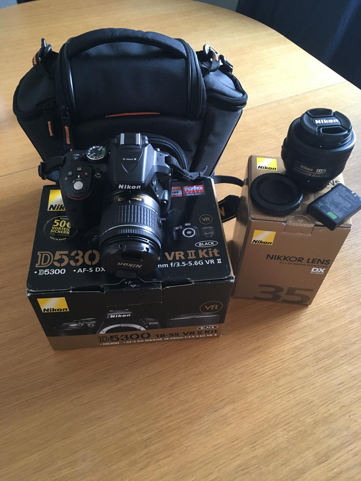 Nikon D D5300 24.2 MP SLR-Digitalkamera - Schwarz (Kit m/ AF-S DX 18-105mm f/3.5