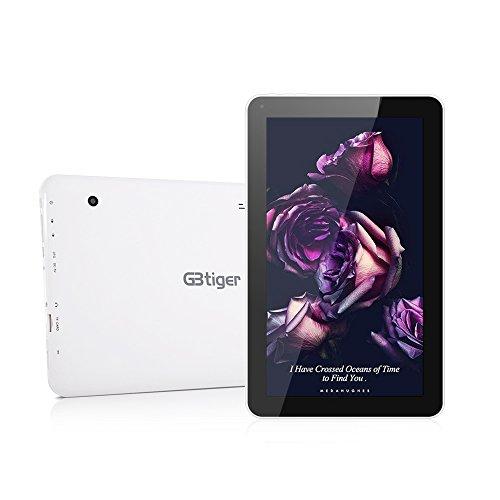 GBtiger L1008 10,1-Zoll-Tablet PC (Android 5.1 Allwinner A33 Quad-Core 1,3 GHz, 1 GB RAM + 16 GB ROM, Doppelkamera , HD-Auflösung von 1024 x 600)EU-Stecker (1GB RAM + 8GB ROM, Schwarz)