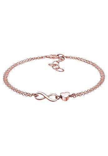 Elli Damen-Armband Herz Infinity Unendlichkeit 925 Silber 16 cm 0209230216-16