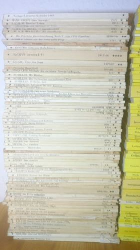 400 Reclam Hefte Literatur Konvolut Sammlung Literatur Klassiker grün blau rot