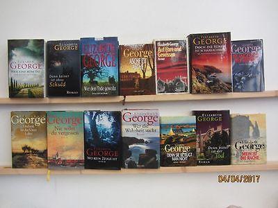 Elizabeth George 14 Bücher Romane Krimi Kriminalromane Thriller