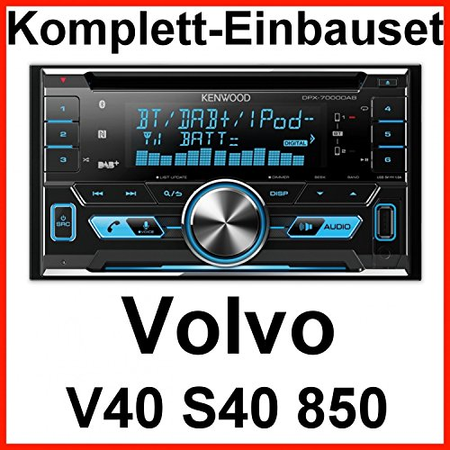 Komplett-Set Volvo S40 V40 850 Kenwood DPX-7000DAB Bluetooth DAB USB MP3 CD AUX Autoradio