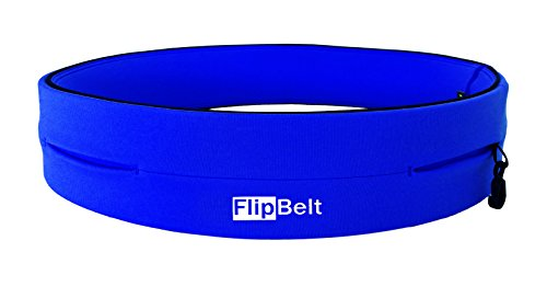 FlipBelt(TM) (Laufgürtel Running Belt, Fitness Gürtel, Yoga, Outdoor Trekking Gürtel), Farbe:Royal-Blau;Größe:XS