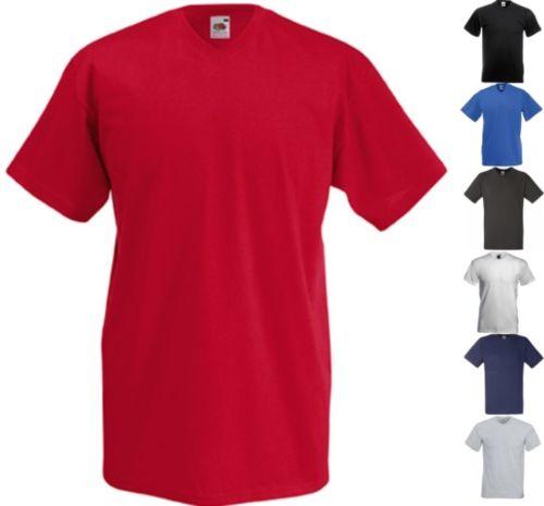 FRUIT OF THE LOOM Valueweight V-Neck T-Shirt kurzarm - S M L XL XXL(0)