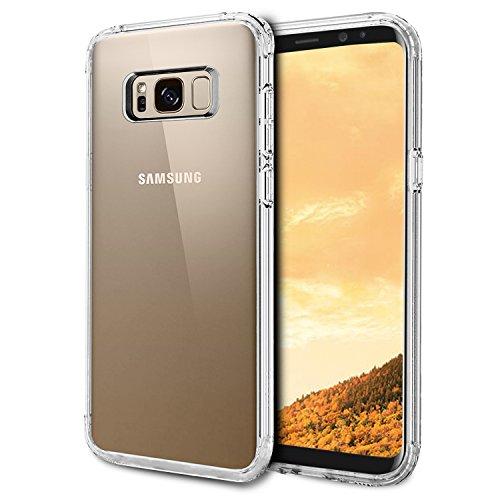 Samsung Galaxy S8 Plus Hülle, Ubegood Kratzfeste Handyhülle für Galaxy S8 Plus TPU Case Durchsichtige Crystal Soft Silikon Ultradünn Cover Bumper Case Schutzhülle für Samsung Galaxy S8 Plus (6,2