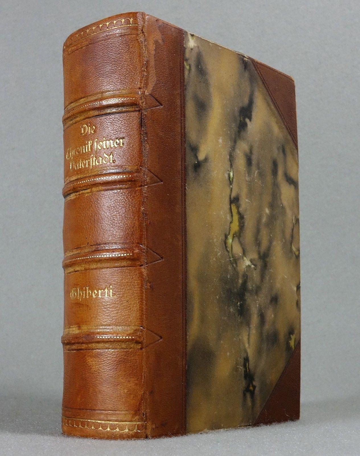 1833 - ROMANTIK - Lorenzo Ghiberti - ITALIEN Renaissance Florenz Leder - SELTEN