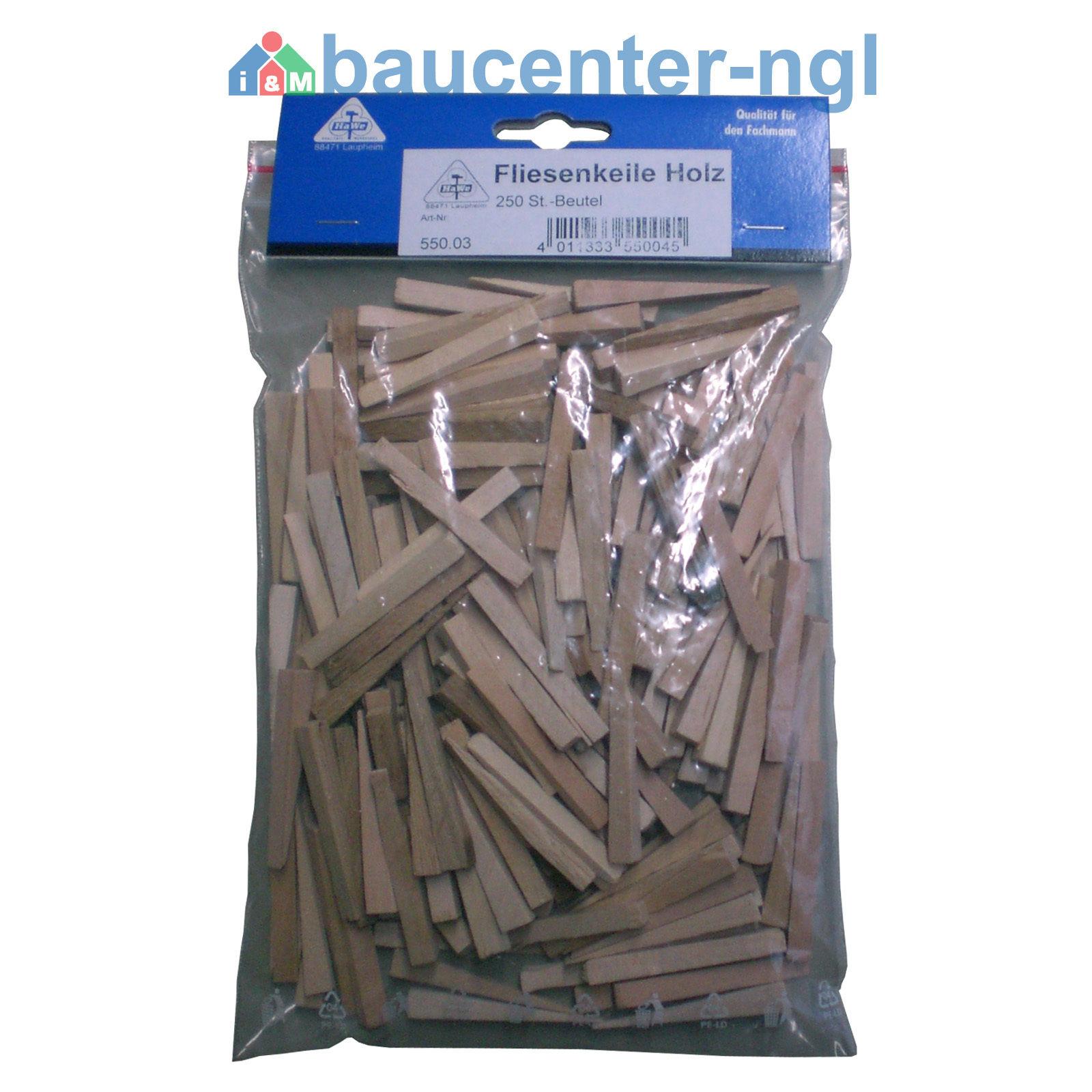Fliesenkeile Kunststoff Holz 30x6x0-5mm 55x7x0-8,5mm