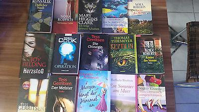 Bücher Sammlung 15 Bücher (Romane und Krimi)