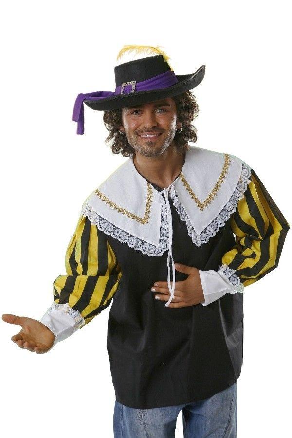 Oberteil für Musketiere Hemd für Musketier Kostüm Verkleidung Musketierkostüm