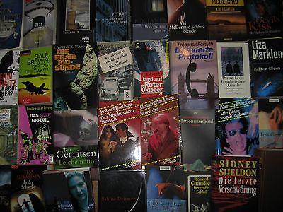 Büchersammlung 40 Stk. Romane Bücherpaket Spannung nur Thriller Krimi Konvolut 3
