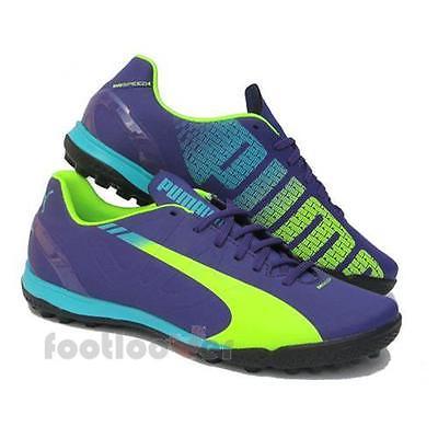Herren Fußballschuhe Puma evoSpeed 4.3 TT 103021 01 Violet-Yellow-Blue