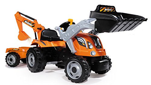 Smoby 7600710110 -  Traktor Builder Max, Outdoor und Sport, orange