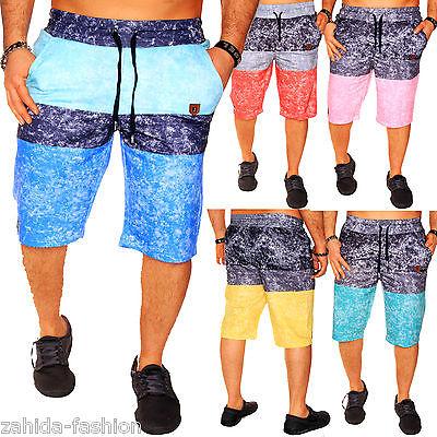 Herren Damen Capri kurze Hose Bermuda 3/4 Sommer Short Schwimmen Strand Hose NEU