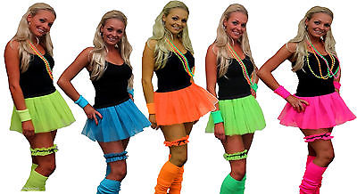 Neon Pleated Tutu 1980s Clubbers Fancy Dress Dancewear Hen Party UK Dare2wearuk