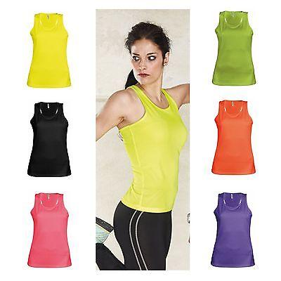 Trainingsshirt Lady Damen Trainings Shirt pink neon atmungsaktiv Fitness, Zumba