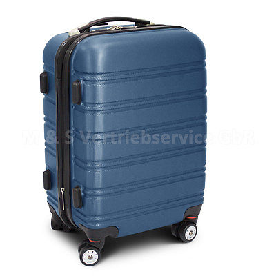 hellblauer ABS Hartschalen Reisetrolley Tasche Reisekoffer Größe L - TYP