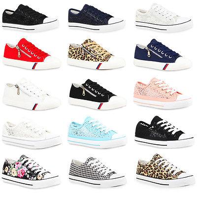 Damen Sneakers Kult Sportschuhe Prints Sportliche Schnürer 99167 Gr. 36-41 New L