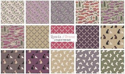 LEWIS AND IRENE A WALK IN THE GLEN 100% COTTON FABRIC CHRISTMAS THISTLE TARTAN