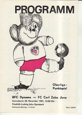 OL 81/82  BFC Dynamo Berlin - FC Carl Zeiss Jena