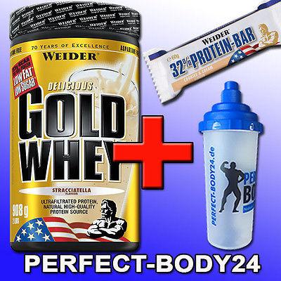 (34,13€/kg) Weider Gold Whey Protein 908g Dose + Mega Bonus