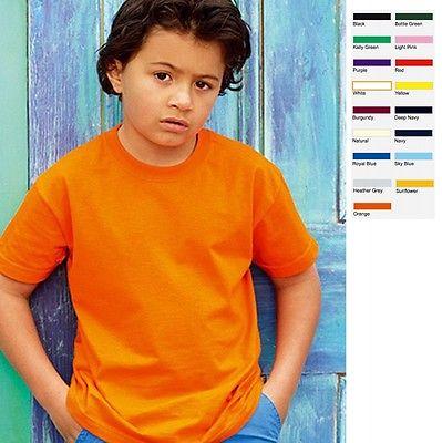 Fruit of the loom Kinder T-Shirt Valueweight Kids Junge Mädchen Shirt Value