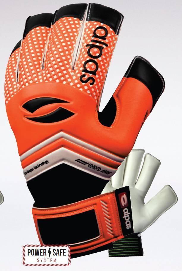alpas Torwarthandschuhe PowerSafe V2 Orange (Fingersave) Gr. 3 bis 12 *NEU*