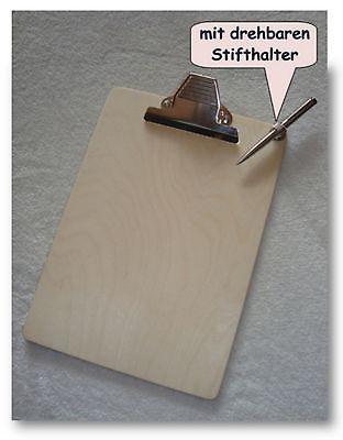 Klemmbrett Schreibbrett Schreibunterlage Clipboard aus Holz