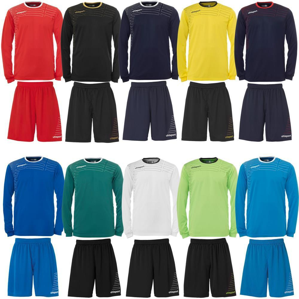 Uhlsport Match Team Kit (Shirt&Shorts) langarm Trikot Set Fußball Trainingsset
