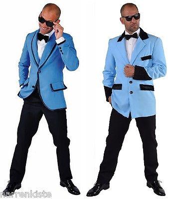 Sakko Disco Jacke Anzug Kostüm Herren Jacket Party Hippie 50er Jahre Rock`n Roll
