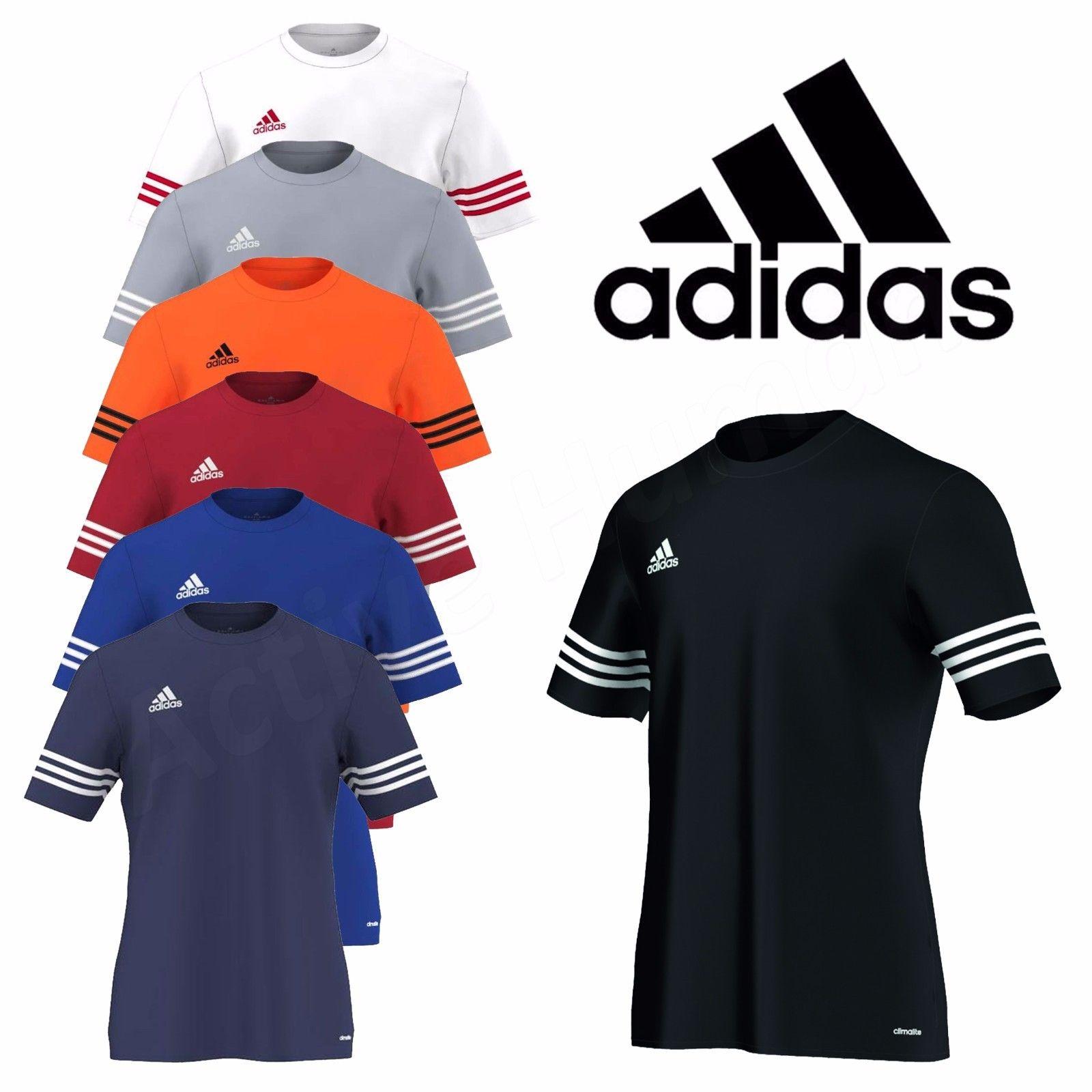 Adidas Mens T Shirt Football Training Top Gym Climalite Entrada Size M L XL  XXL 652a85b414