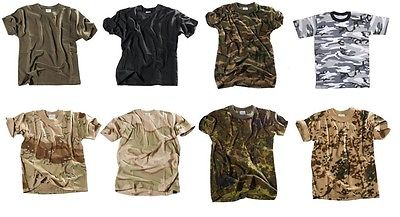 Kinder Tarn Shirt T-Shirt woodland flecktarn oliv schwarz desert S-XXL