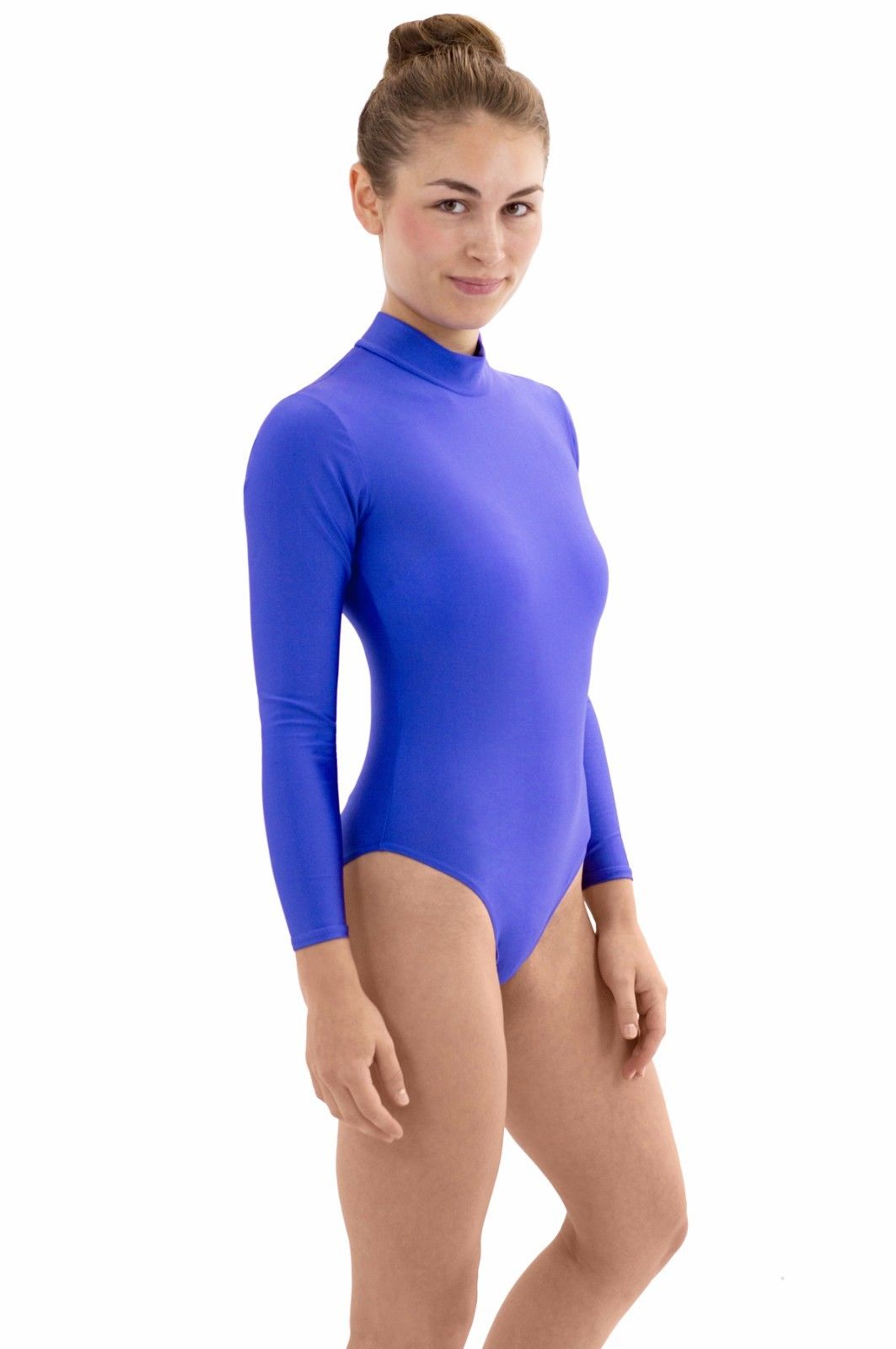 Gymnastikbody Damen Rückenreißvers. lange Ärmel große Farbauswahl Größen S-XXL