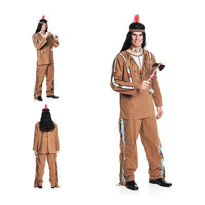 Indianer Kostüm Herren Indianerkostüm NEU Größe 48-50 52-54 56-58