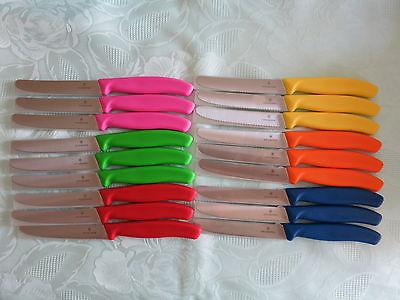 VICTORINOX Bunt - Farbwahl  18 Messer Brötchenmesser Küchenmesser Tomatenmesser