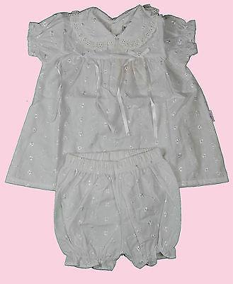 Liliput Taufkleid mit Hose 56 62 68 74 weiß Set Taufe Stickerei Satinschleife