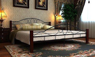 Bett Metallbett  Bettgestell Doppelbett Lattenrost Lattenrahmen
