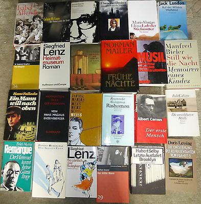 Moderne Literatur, 60 Bücher, diverse Autoren/Titel/Verlage, Hardcover & TB