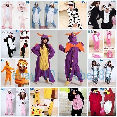 Heiße neue Unisex Adult Pyjamas Kigurumi Kostüm Tier Onesie Nachtwäsche A2
