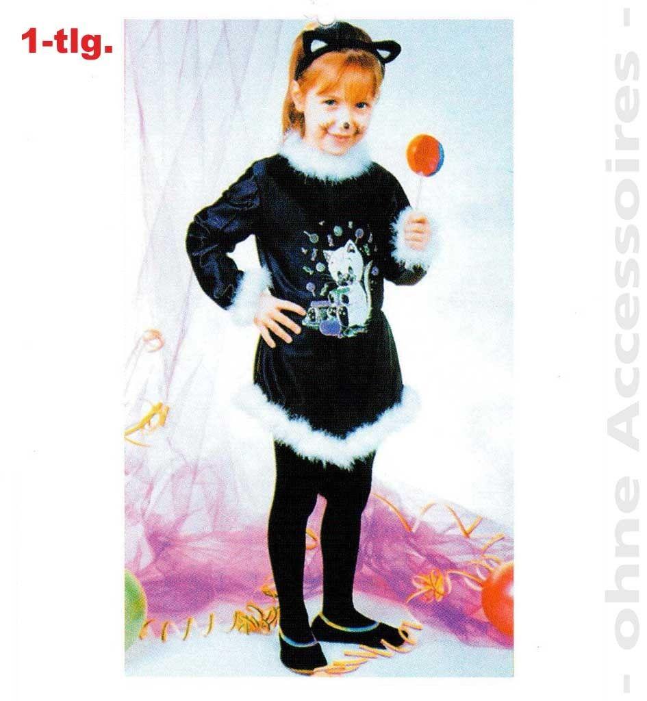 Naschkatze Kostüm Gr. 104 - 116 Katzenkostüm Katze Kleid Luna 1211360G13