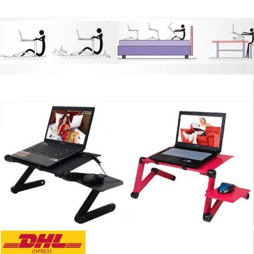 Laptoptisch Notebooktisch Betttisch Pflegetisch Klapptisch +Fanlöcher Mausablage