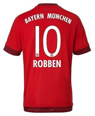 01e92cf2e163 Trikot Adidas FC Bayern München 2015-2016 Home - Arjen Robben  128 bis 3XL   FCB